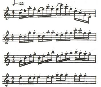 北京/连续的十六分音符组成的各种音型。如:...